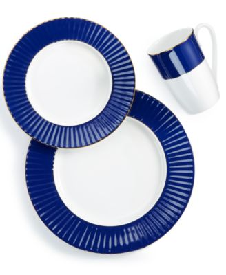 Pleated Colors Navy 3-Pc. Place Setting