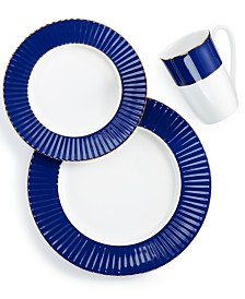 Lenox Pleated Colors Navy 3-Pc. Place Setting