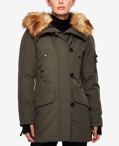 S13 Faux-Fur-Trim Down Parka - Coats - Women - Macy's