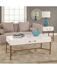 Ava Living Room Table Collection, Quick Ship