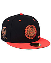 6d3cb717e6a New Era Miami Marlins X Wilson Circle Patch 59FIFTY Fitted Cap