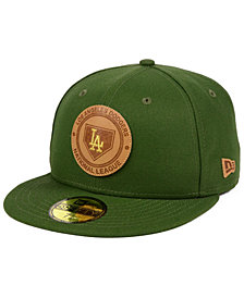 New Era Los Angeles Dodgers Vintage Olive 59FIFTY Fitted Cap