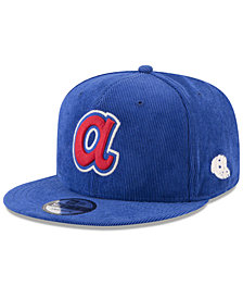 New Era Atlanta Braves All Cooperstown Corduroy 9FIFTY Snapback Cap