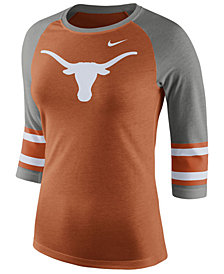 Nike Women's Texas Longhorns Team Stripe Logo Raglan T-Shirt