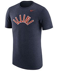 Nike Men's Illinois Fighting Illini Vault Logo Tri-Blend T-Shirt