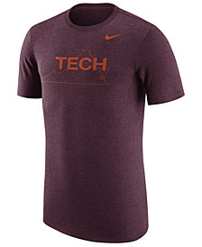 Nike Men's Virginia Tech Hokies Vault Logo Tri-Blend T-Shirt