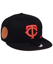 New Era Minnesota Twins X Wilson Side Hit 9FIFTY Snapback Cap