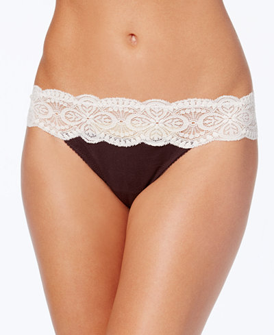 Cosabella Sonia Two-Tone Lace-Waist Thong SONIT0321
