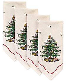 CLOSEOUT! Spode   Christmas Tree, Napkins, Created for Macy's, Set of 4