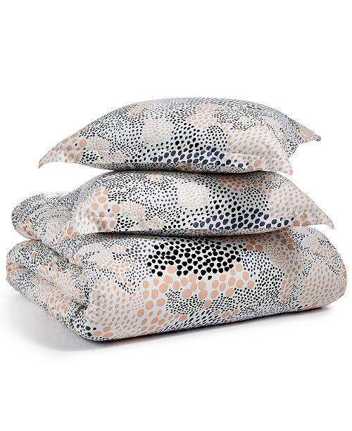 BCBGeneration Pebble Noir Cotton 3-Pc. Full/Queen Duvet Cover Set