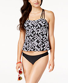 Hula Honey Juniors' Maze Muse Halter Tankini Top  & Bottoms, Created for Macy's