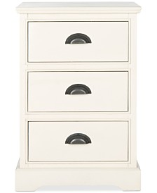 Griffin 3-Drawer Side Table, Quick Ship
