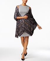 I.N.C. Embellished Jacquard Wrap, Created for Macy's