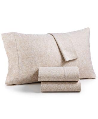 highland 4pc printed california king sheet set 600 thread count sateen cotton blend