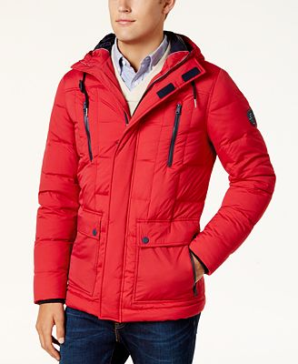 Tommy Hilfiger Men's Everett Parka Jacket - Coats & Jackets - Men ...