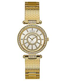 GUESS Women's Gold-Tone Stainless Steel Bracelet Watch 32mm