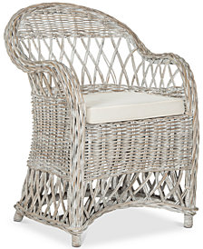 Inez Wicker Club Chair, Quick Ship