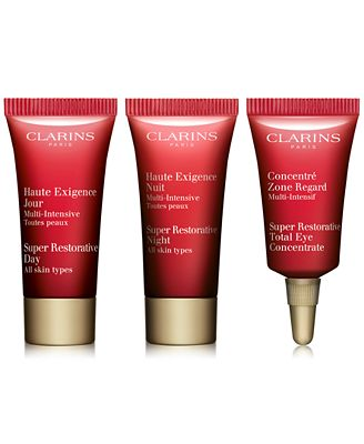Choose your FREE 3 pc skincare gift with $75 Clarins purchase!