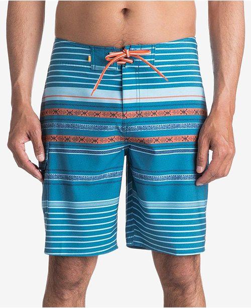 89f716b835 Quiksilver Quiksilver Men's Striped Swim Trunks - Swimwear - Men ...