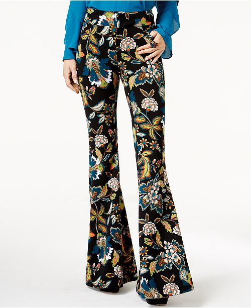 INC International Concepts Anna Sui Loves I.N.C. Petite Printed Flared Pants, Created for Macy's