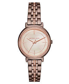 Michael Kors Women's Cinthia Sable Stainless Steel Bracelet Watch 33mm