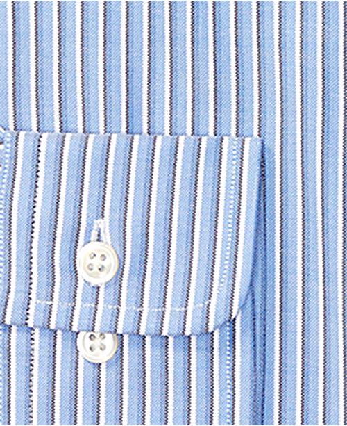 c1057717526 Polo Ralph Lauren Men s Regular Fit Blue Multi-Striped Oxford Dress Shirt  ...