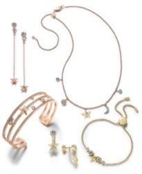 Michael Kors Rose Gold-Tone Crystal Star Jewelry Separates