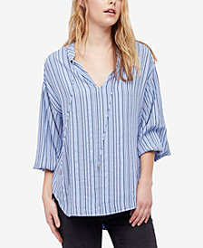 Free People Rhythm Of The Night Striped Top