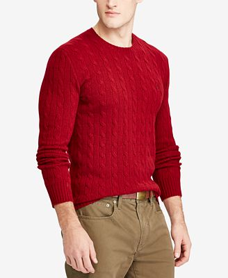Polo Ralph Lauren Men's Cable-Knit Wool and Cashmere Blend Sweater ...