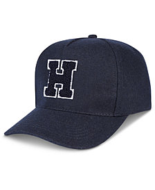Tommy Hilfiger Men's H Patch Flannel Baseball Hat