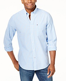 Men's Long-Sleeve Twain Gingham Check Classic Fit Shirt, Created for Macy's
