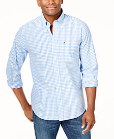 Tommy Hilfiger Men's Long-Sleeve Twain Check Classic Fit Shirt, Created for Macy's