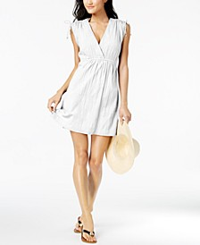 Sleeveless Shoulder-Tie Cover-Up