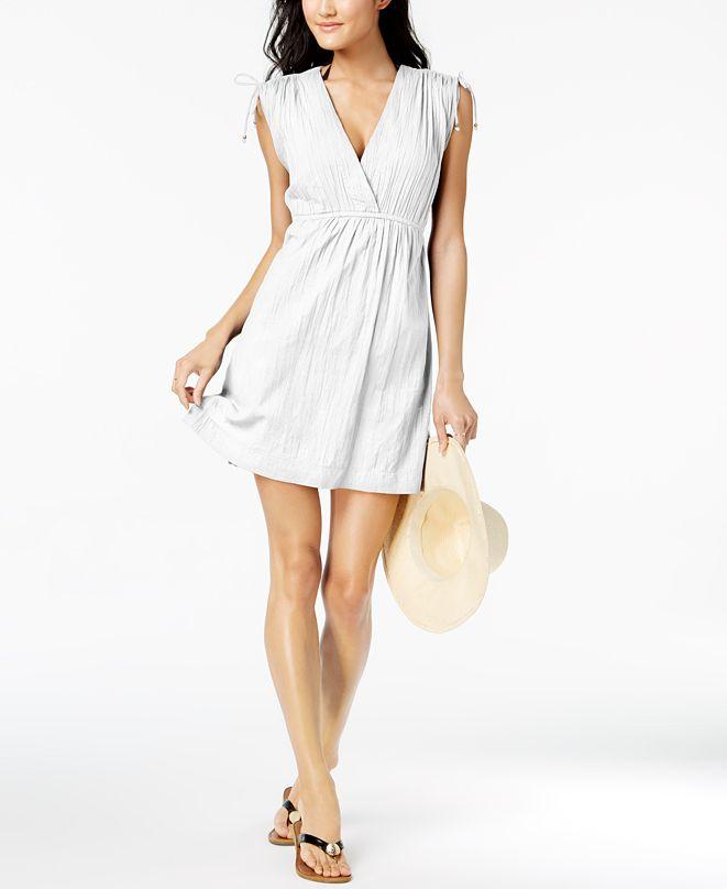 Lauren Ralph Lauren Sleeveless Shoulder-Tie Cover-Up