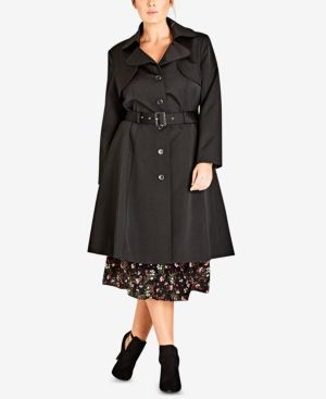 Image of City Chic Trendy Plus Size City Life Trench Coat