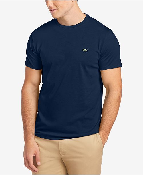 25c630340 Lacoste Men s Crew-Neck Pima Cotton T-Shirt   Reviews - T-Shirts ...