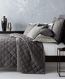 CLOSEOUT! Hotel Collection  Fretwork Quilted King Coverlet, Created for Macy's