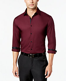 Alfani Men's Slim-fit Stretch Long-Sleeve Shirt, Created for Macy's