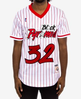 Black Pyramid Men\u0027s Striped Baseball Jersey