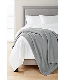 Martha Stewart Collection Seed-Stitch Blanket, Created for Macy's