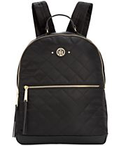 Tommy Hilfiger Quilted Stars Nylon Large Dome Backpack