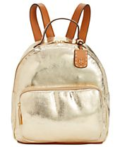 Tommy Hilfiger Julia Metallic Crinkle Dome Backpack