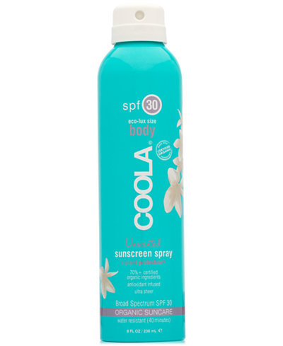 Coola Body Unscented Sunscreen Spray SPF 30, Eco-Lux Size