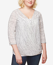 Jessica Simpson Plus Size Draped Nursing Top