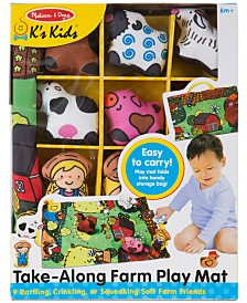Melissa & Doug Take-Along Farm Play Mat