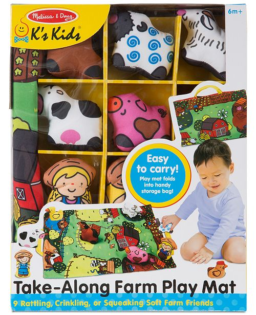 Melissa Doug Take Along Farm Play Mat