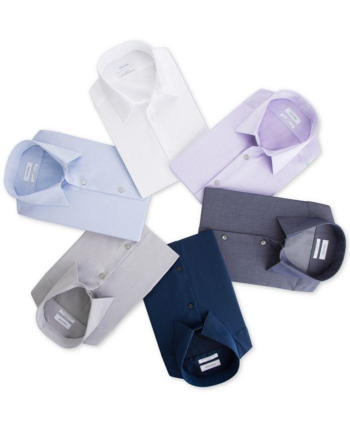 Calvin Klein - Men's Slim-Fit Non-Iron Performance Herringbone Dress Shirt