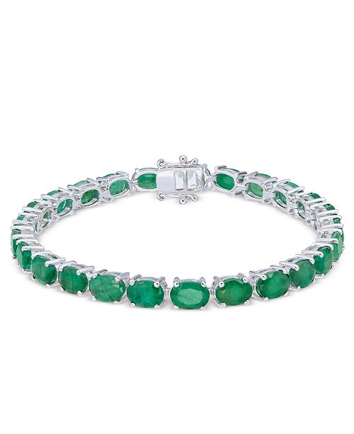 Macy's Emerald Tennis Bracelet (20 ct. t.w.) in Sterling Silver
