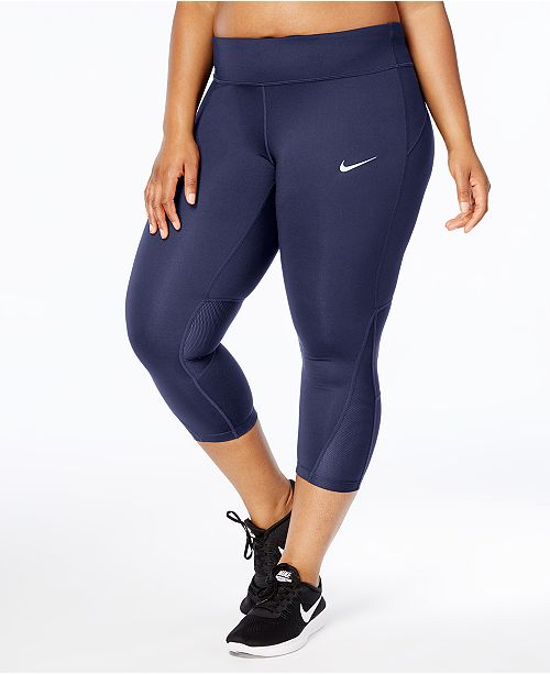 d628ea5bde0af1 Nike Plus Size Power Compression Cropped Leggings & Reviews ...