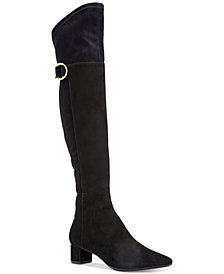 Calvin Klein Women's Georgeanna Stretch Over-The-Knee Boots